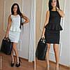 Платье с баской Мини Черное, фото 5