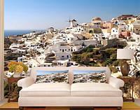 """Фотообои """"Остров Санторини в Греции"""", текстура песок, штукатурка"""