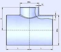 Тройник стальной эмалированный Ду 48, фото 1