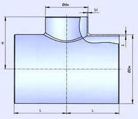 Тройник стальной эмалированный Ду 133
