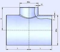 Тройник стальной эмалированный Ду 159, фото 1