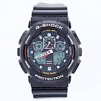 Спортивные наручные часы Casio G-Shock GA-100-1A4ER AAA копия - полный комплект