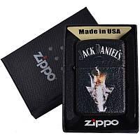 Зажигалка бензиновая Zippo Jack Daniels в подарочной упаковке 4735-3 SO