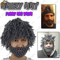 """В'язана шапка - """"Hairy Hat"""", фото 1"""