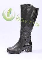 Шкіряні жіночі зимові чоботи Наталі 38,39 розміри, фото 1