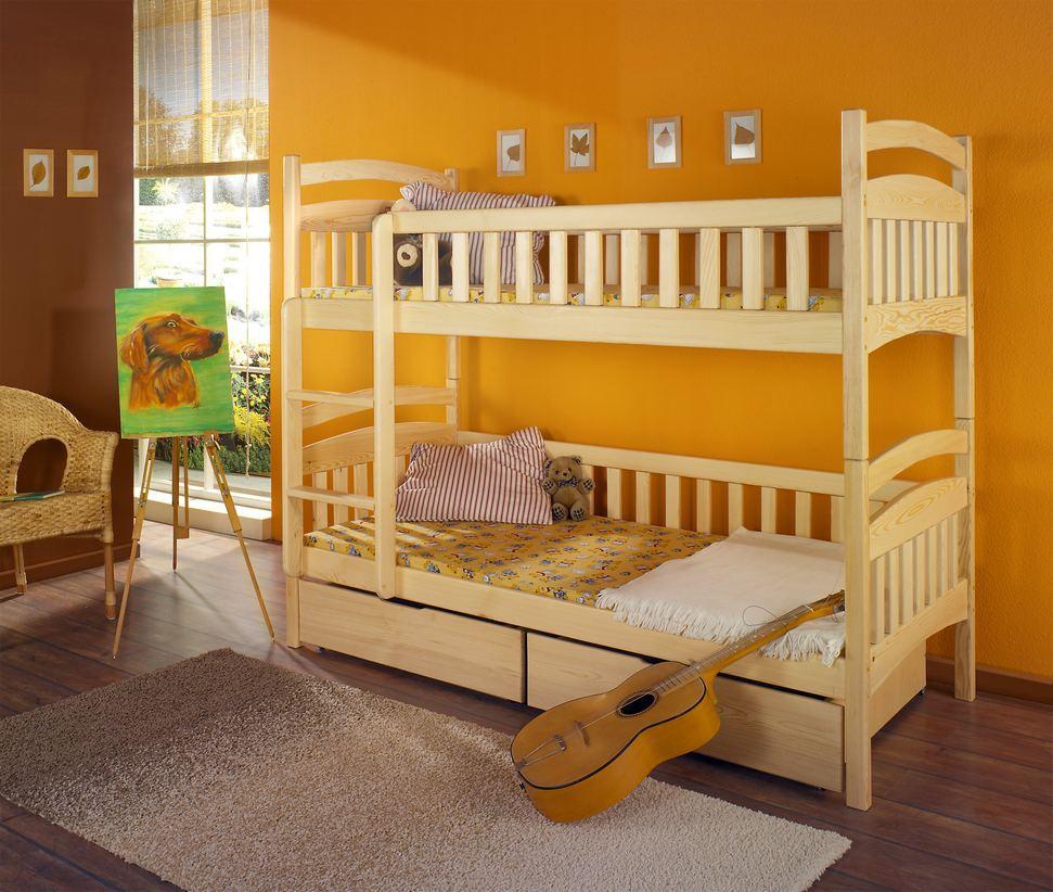 """Кровать двухъярусная """"Кетрин"""" из массива дерева"""
