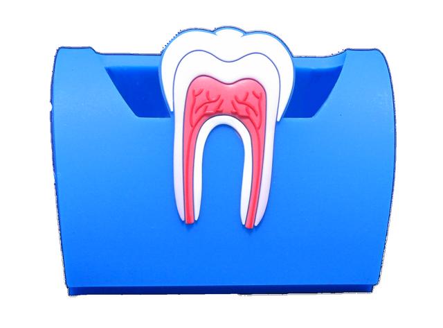 """Подставка для визиток """"Зуб"""", синяя"""