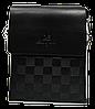 Удобная сумка планшет коричневого цвета мужская из искуcственной кожи Langsa CМ-29
