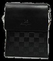 Удобная сумка планшет коричневого цвета мужская из искуcственной кожи Langsa CМ-29, фото 1