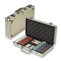 Покерный набор в алюминиевом кейсе на 300 фишек N°300