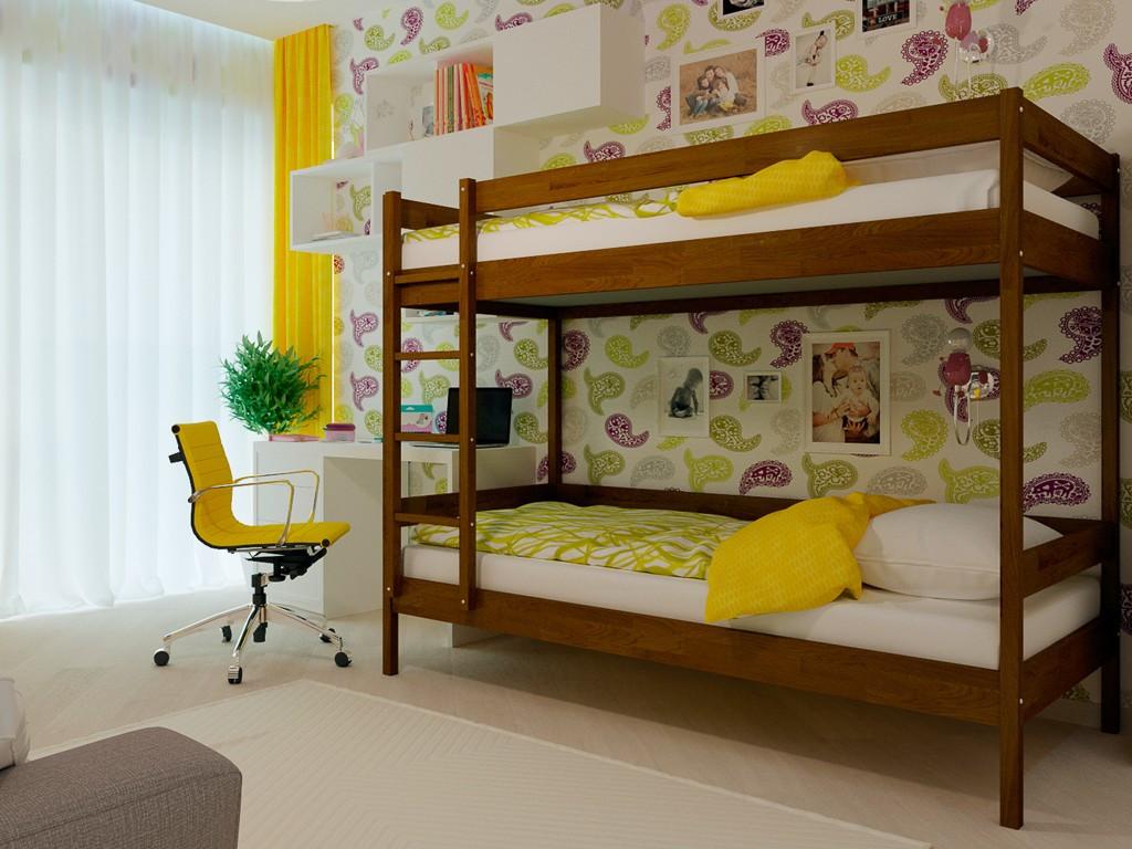 """Двухъярусная кровать """"Натали"""" из натурального дерева"""
