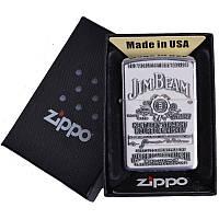 Зажигалка бензиновая Zippo Jim Beam в подарочной упаковке 4739-2 SO