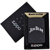 Зажигалка бензиновая Zippo Jim Beam в подарочной упаковке 4740-3 (реплика) SO
