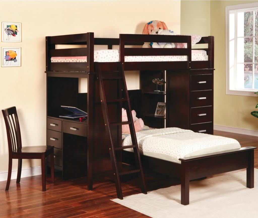 """Двухъярусная кровать """"Сабре"""" из натурального дерева"""