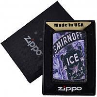 Зажигалка бензиновая Zippo SMIRNOFF ICE в подарочной упаковке 4735-4 SO