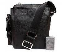 Классная мужская кожаная сумочка для водительских документов и прочих мелочей Alvi av-189 черный