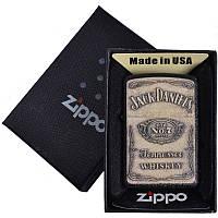 Зажигалка бензиновая Zippo Jack Daniels в подарочной упаковке 4737-2 SO