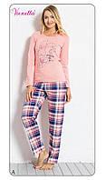 Пижама женская с брюками хлопок Vienetta 6040392122
