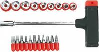 Насадки и сменные головки с держателем, набор 21шт (шт.) Top Tools (39D385)