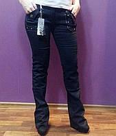 Женские черные стрейч штаны