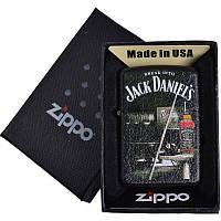 Зажигалка бензиновая Zippo Jack Daniels в подарочной упаковке 4737-3 SO
