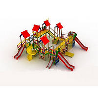 """Детский комплекс """"Крепость"""" на детскую площадку с горками и качелями, фото 1"""