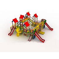 """Детский комплекс """"Крепость"""" на детскую площадку с горками и качелями"""