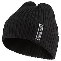 Шапка спортивная reebok se menc logo Beanie(черная)