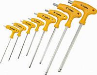 Ключи шестигранные HEX с Т-образной ручкой, набор (шт.) TOPEX (35D967)