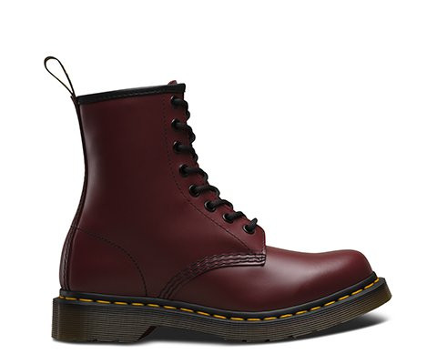 Женские зимние ботинки Dr. Martens 1460 бордовые (с мехом)  купить в ... 7c77c49bfdc