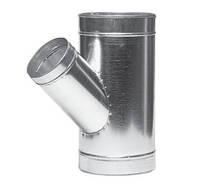 Тройник вентиляционный оцинкованный углоТройник вентиляционный оцинкованный угловой вой 160-45, Вентс, Украина