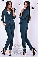 Костюм женский двойка жакет + брюки. (разные цвета)