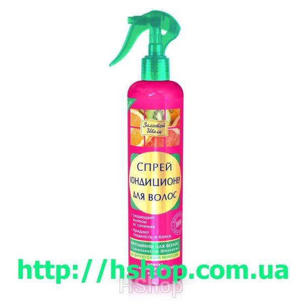 Золотой Шелк спрей-конд.д/волос Эффект ламинирования 350мл