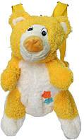 Яркий рюкзак-мягкая игрушка для малышей, медвежонок желтый