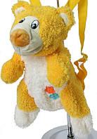 Рюкзак-мягкая игрушка для малышей, медвежонок желтый
