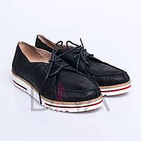 Мокасины женские кожаные 5011-52-5black