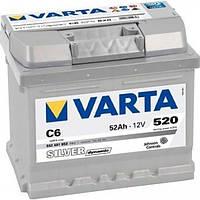 Аккумулятор 6СТ-52 правый+ VARTA Silver Dynamic C6