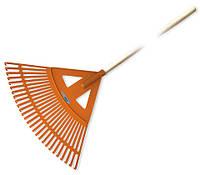 Граблі у формі віяла-27, з дерев'яним черенком