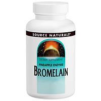 Бромелайн 2000 GDU/г , 60 таб 500 мг ферменты энзимы от аллергии Source Naturals USA