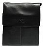 Сумка мужская планшет черная из искуcственной кожи Langsa CМ-35
