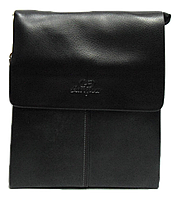 Сумка мужская планшет черная из искуcственной кожи Langsa CМ-35, фото 1