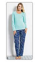 Пижама женская с брюками хлопок Vienetta 6040692465 розовый, XL