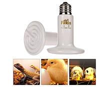 Инфракрасная керамическая лампа излучатель для обогрева животных 200 W