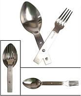 Милтек столовый набор ложка-вилка сталь