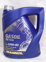 Масло 10W40 полусинтетика MANNOL GasOil Extra SL 4л, фото 1