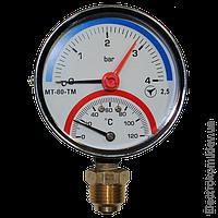 Термоманометр радиальный МТ-80-ТМ-Р, 10 бар / 120 С