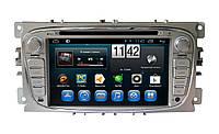 Магнитола Ford Focus II, Mondeo, S-MAX, Galaxy, Tourneo, Transit Connect. Kaier KR-7012 серебро. Android