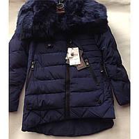 Куртка пальто зимняя для девочки отличного качества с мехом, подросток