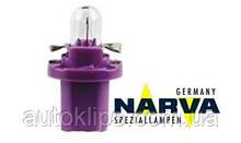 Лампа с патроном 12V 0,4W цоколь- BХ8,5d щиток приборов NARVA 17006