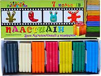 Пластилин с уроком мультипликации 7 цветов, 150 гр.